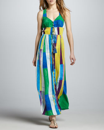 Geometric-Inspired Maxi Dress