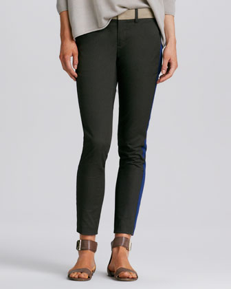 Tricolor Strapping Fitted Pants