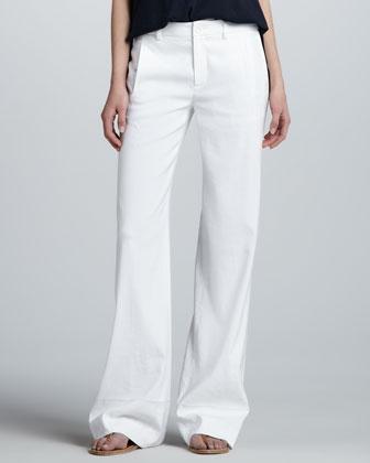 Womens Linen Pants | Neiman Marcus | Ladies Linen Pants, Female Linen
