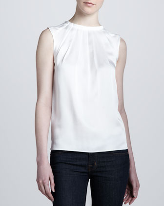 Charmeuse Sleeveless Top