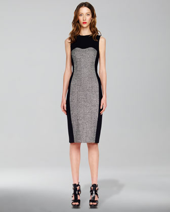 Tweed-Panel Dress