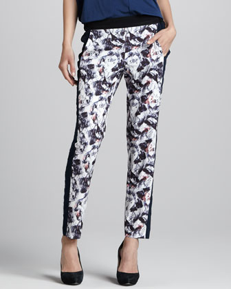 Colorblock Printed Pants