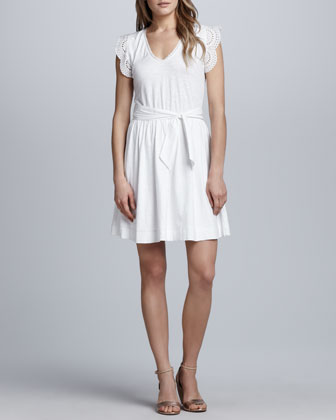 Solitude Eyelet-Sleeve Dress