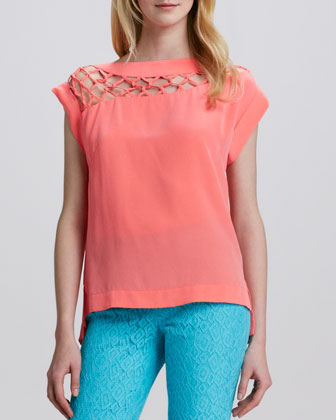 Tossa De Mar Silk Top