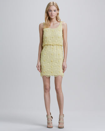 Gabby Lace Blouson Dress