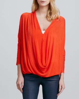 Janie Draped Knit Top