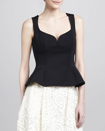 Lagoon Sleeveless Peplum Top