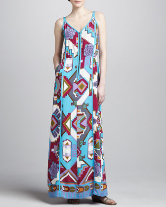 Machu Picchu Printed Maxi Dress