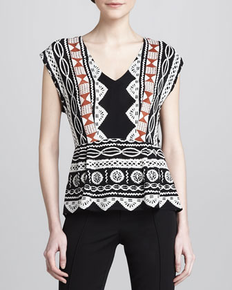 Alvarado Printed Silk Top
