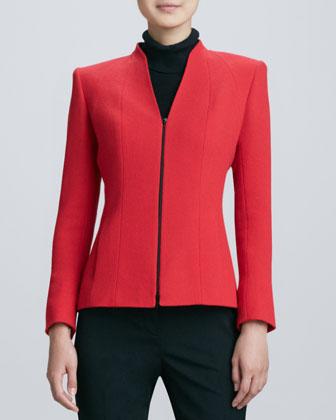 Modern Zip Jacket Neiman Marcus Modern Zip Coat