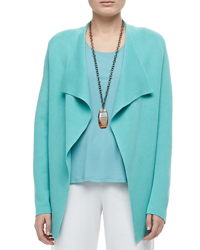 Silk-Cotton Interlock Jacket, Women's