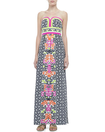 Layla Printed Silk Maxi Dress