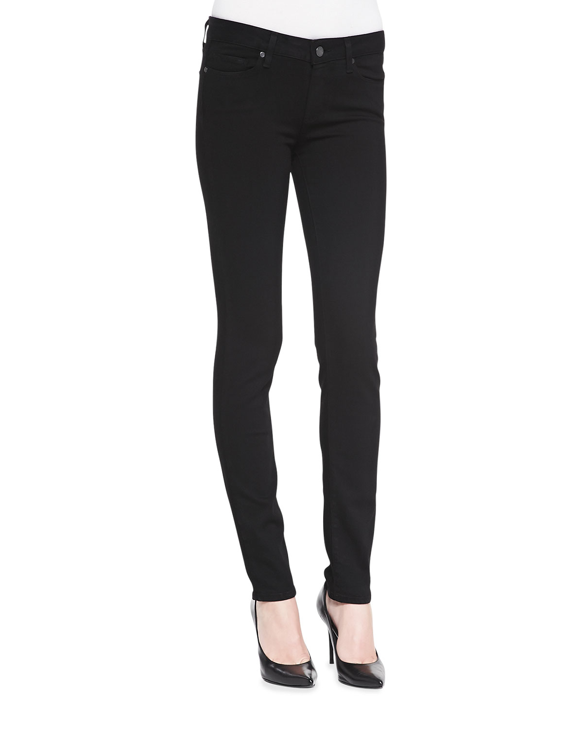 Skyline Skinny Jeans, Black Shadow