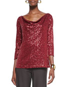 Stretch Sequined Top