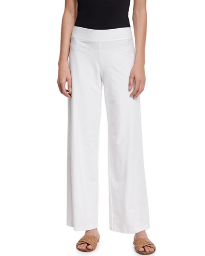Eileen Fisher Wide Leg Crepe Pants | Neiman Marcus
