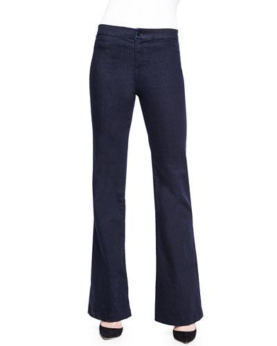Tailored High-Rise Flared Denim Trouser