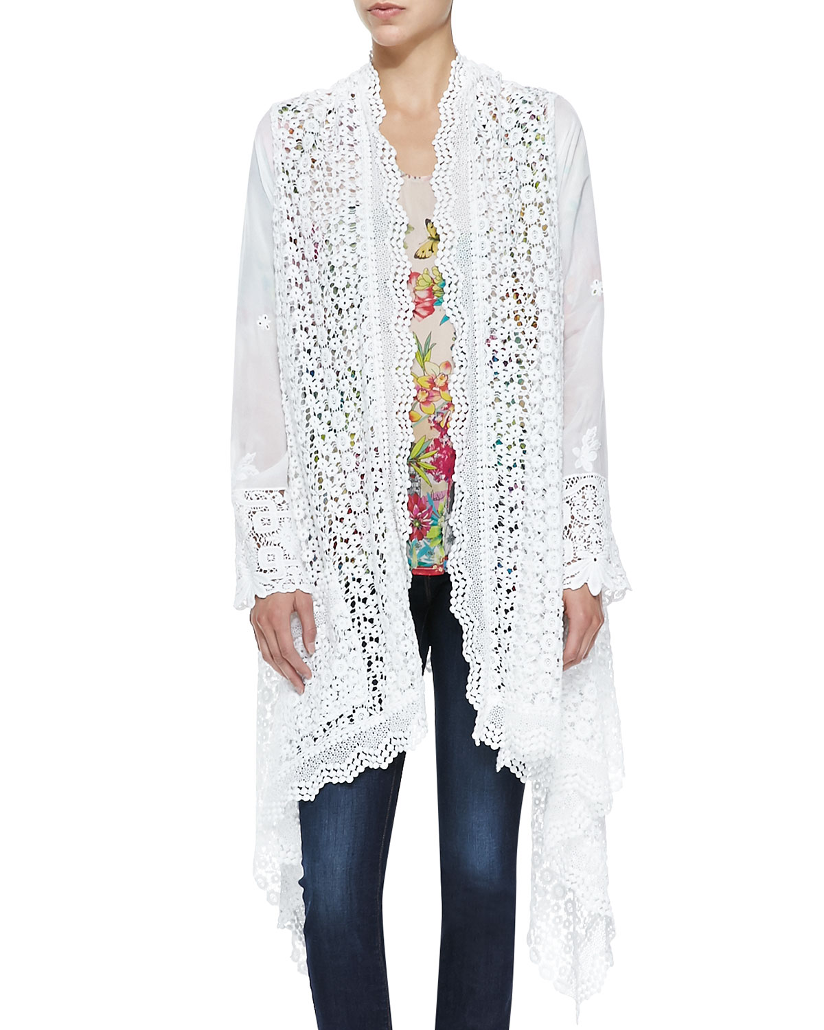 Stella Crochet Long Jacket