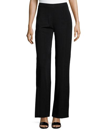 Washable Wide-Leg Pants, Black, Plus Size