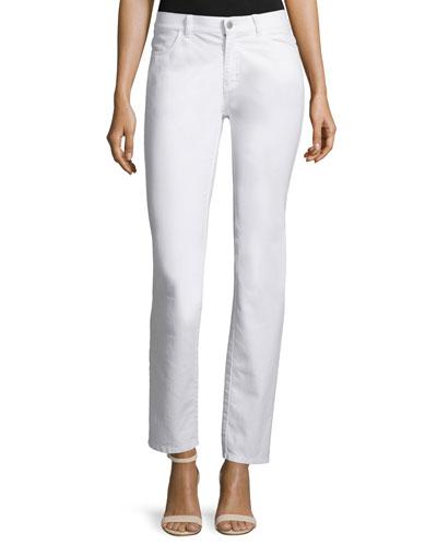 Curvy Slim-Leg Jeans, Black, Plus Size