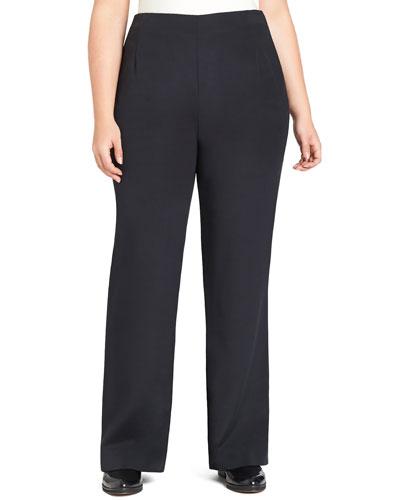 Studio Silk Stretch Pants, Black