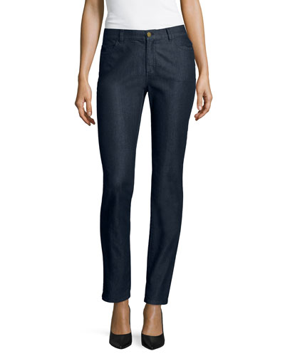 Curvy Bi-Stretch Slim-Leg Jeans, Midnight, Plus Size