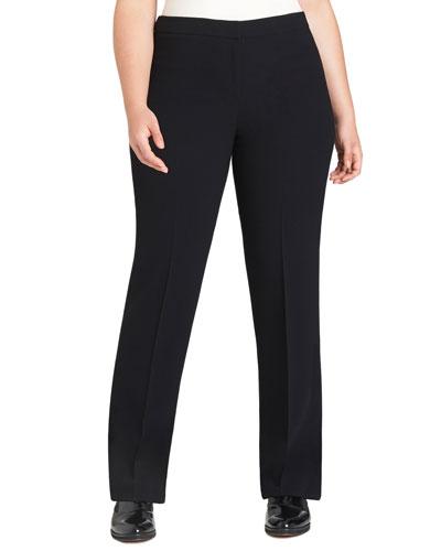 Barrow Straight-Leg Pants, Black, Plus Size