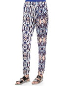 Boomer Printed Pull-On Straight Pants