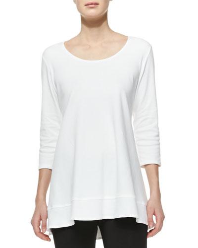 Interlock-Knit High-Low Tunic, Plus Size