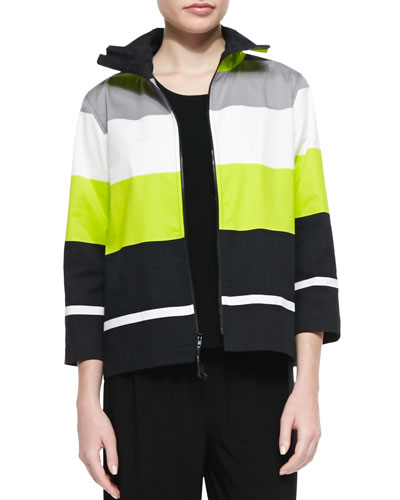 Limelight Striped Zip Jacket, Petite
