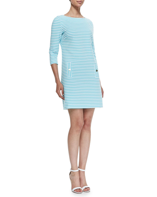 Charlene Ottoman-Striped Dress