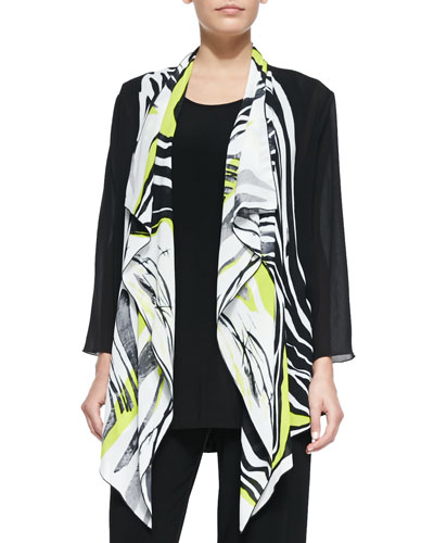 Twist of Lime Waterfall Jacket, Petite