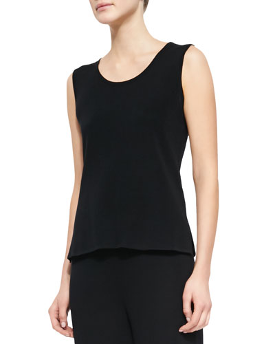 Sleeveless Long Tank, Black