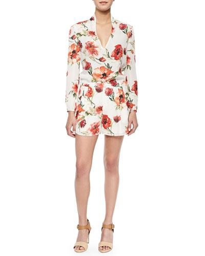 Gypsy Silk Floral-Print Jumpsuit