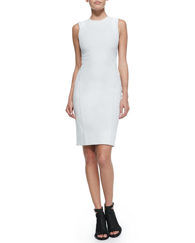 Compressed Twill Fitted Dress