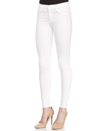 Nico Mid-Rise Skinny Jeans, White