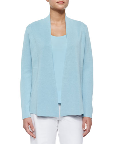 Silk Cotton Interlock Jacket, Capri, Plus Size