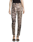 Animal Jacquard Skinny Pants