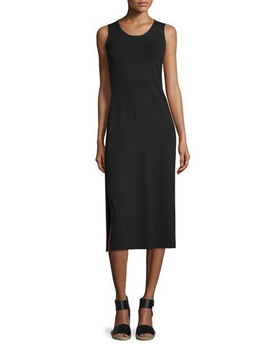 Jersey Midi Dress, Black, Petite