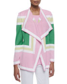 Colorblock Draped Cardigan, Plus Size