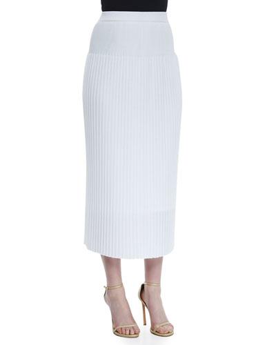 Long Pleated Skirt, Petite