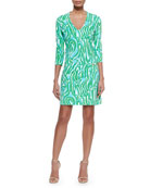 Charlena Printed Ponte Shift Dress