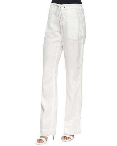 Katriane Wide-Leg Linen Pants