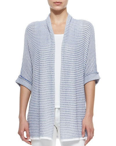 Oversized Half-Sleeve Open Cardigan