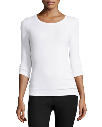Jackie Knit Ballet Top, White