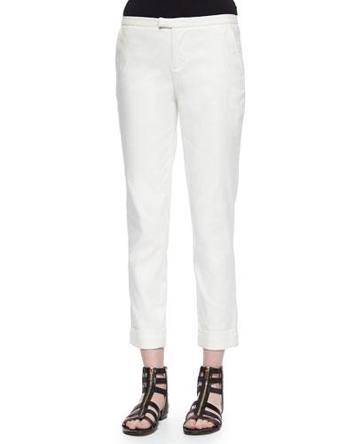 Low-Rise Slim Cuffed Pants