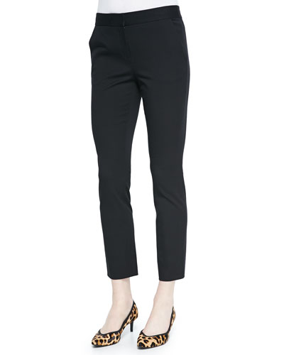 Genesis Flat-Front Cropped Pants