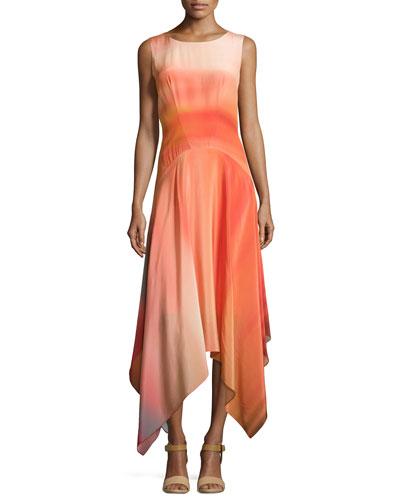 Sleeveless Draped Cocktail Dress