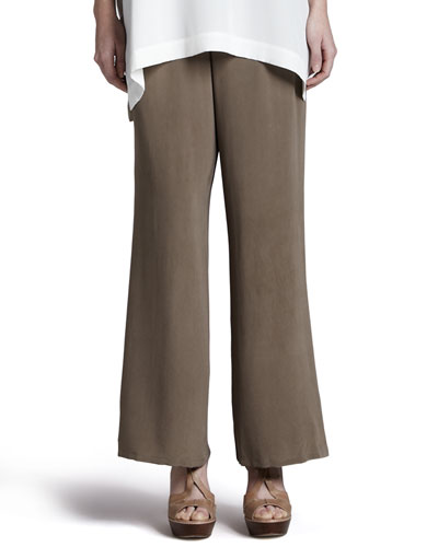 Silk Full-Leg Pants