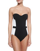 Lipsi Two-Tone One-Piece Swimsuit