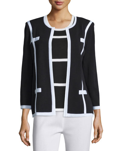 Milano Jacket with Piping, Plus Size